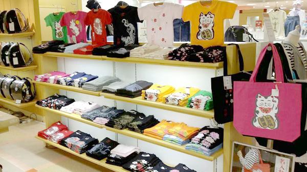 京都伊勢丹・ジャポリズム和柄Tシャツ 実演販売